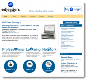 EdLeadersNetwork Website Home