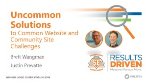 Uncommon Solutions to Common Website and Community Site Challenges - First Slide